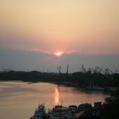 Закат над Дунаем