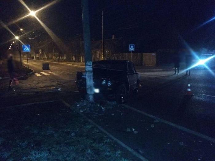 Ночью в Измаиле произошло ДТП. ФОТО