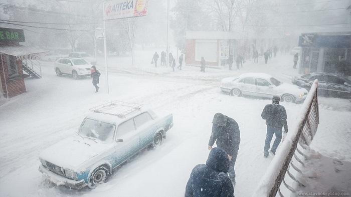 снегопад в Измаиле