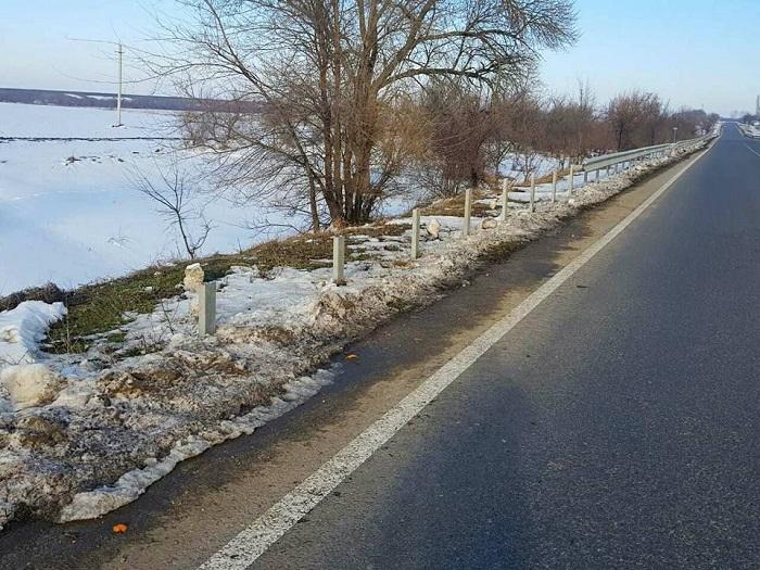 На трассе Одессы-Рени похищено ограждение. ФОТО