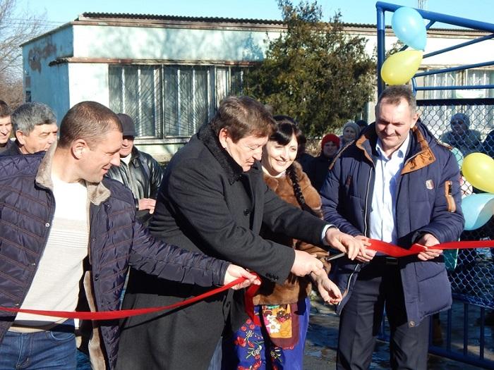 В Старой Некрасовке состоялось открытие спортклуба