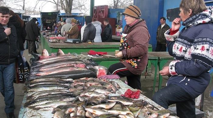Измаильский рынок рыба