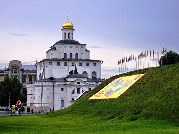 достопримечательности Владимира на карте города