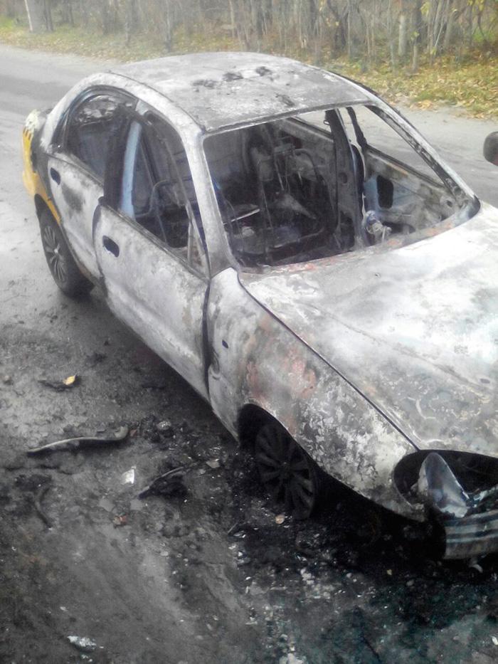 сгорело Желтое такси Измаил
