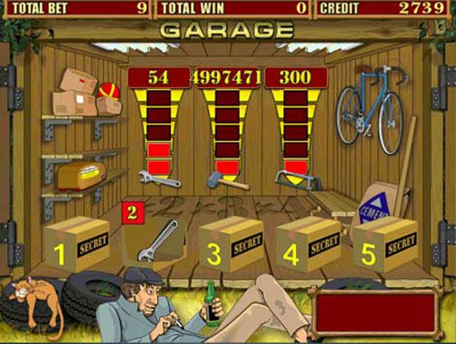 играть в игровой автомат Garage бесплатно и без регистрации