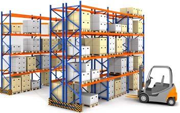 Металлические паллетные стеллажи для склада