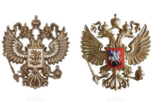 Заказать герб РФ можно на любом материале