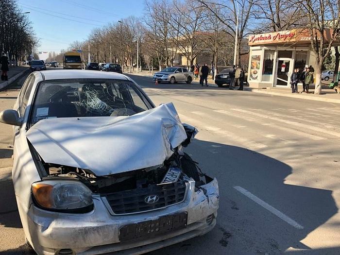 В Измаиле пьяный водитель спровоцировал тройное ДТП. ФОТО