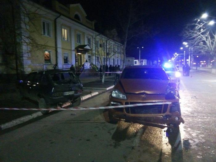 В Измаиле с погоней и ДТП был задержан пьяный водитель. ВИДЕО