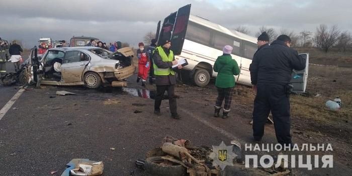 В ДТП на трассе погибла пассажирка маршрутного автобуса. ФОТО