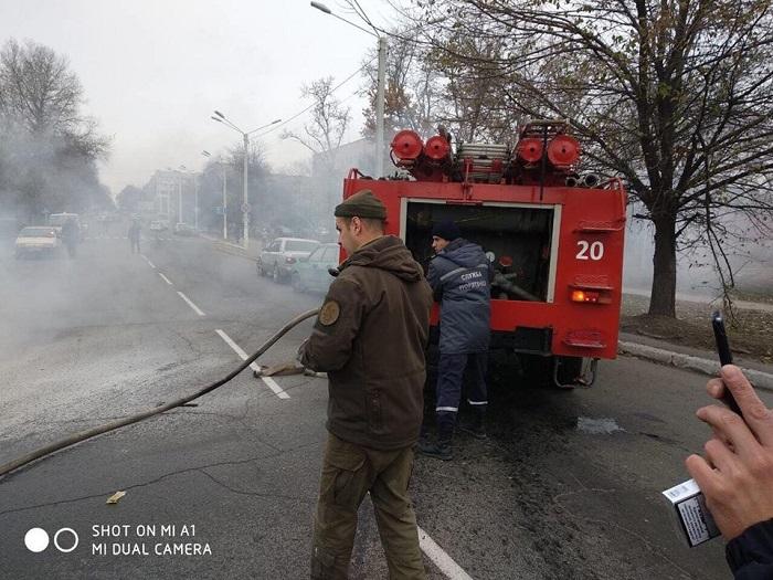 в Измаиле загорелось авто