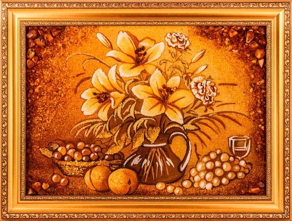 Картина из янтаря - талисман счастья и удачи в доме