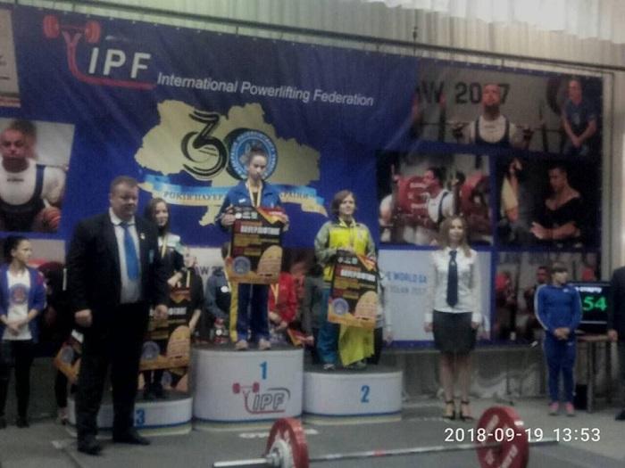 Жительница Измаила стала чемпионкой Украины по пауэрлифтингу