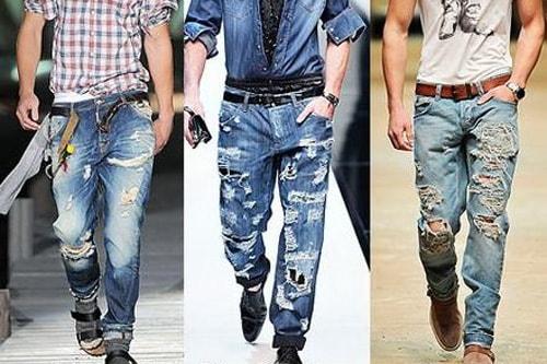 Почему в моде рваные мужские джинсы?
