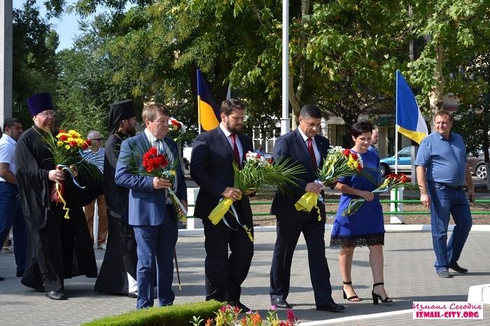 24 августа в Измаиле отметили 27-ю годовщину независимости  Украины.