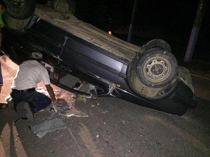Недалеко от Спасского перевернулось авто