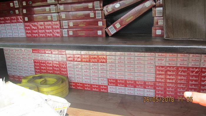 Измаильские пограничники выявили крупную партию контрабандных сигарет