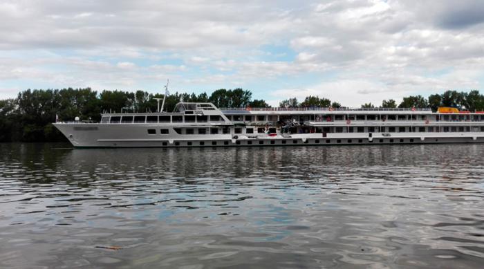 на Дунае столкнулись два судна