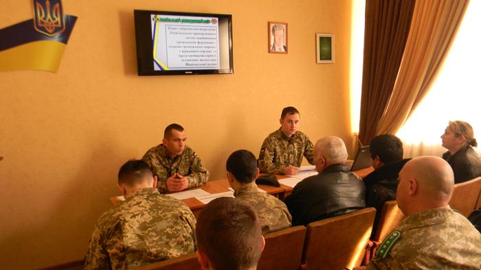 В Измаильском отряде подвели итоги по результатам служебной деятельности участковых инспекторов пограничной службы в 2016 году