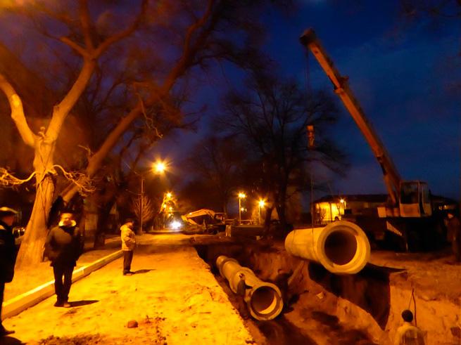 Мэр Измаила о ремонте коллектора на улице Нахимова