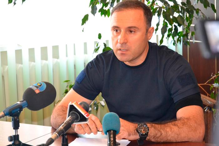 Брифинг в.и.о. начальника ГУНП в Одесской области Гиорги Лорткипанидзе в Измаиле