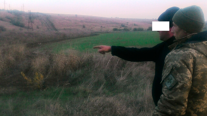 Пограничники Измаильского отряда снова задержали нарушителя границы по информации молдавских коллег