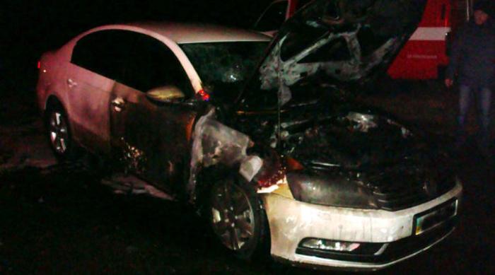 В Измаиле сгорело авто