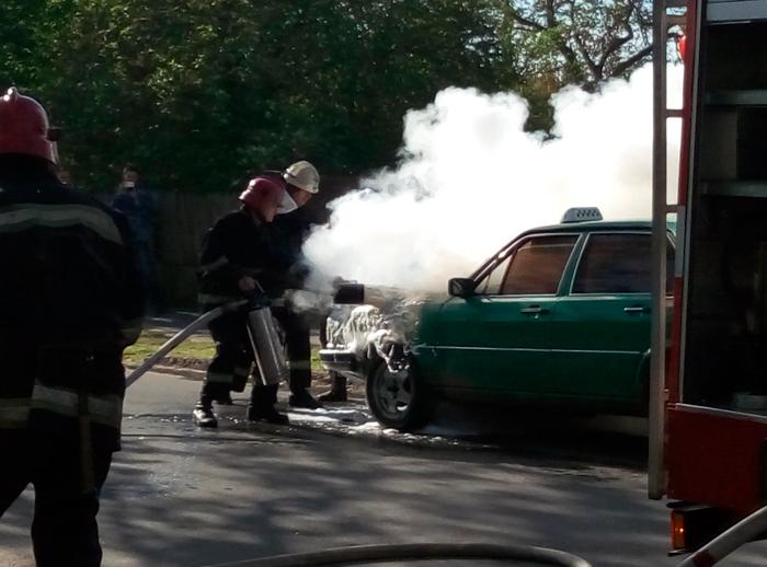 в Измаиле сгорел автомобиль