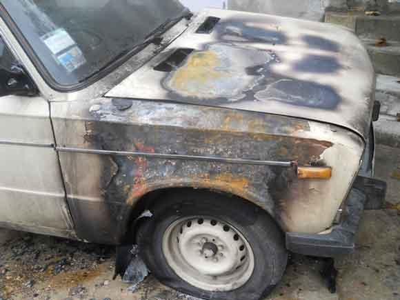 сгорело авто Измаил
