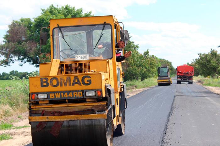 Продолжается капитальный ремонт участка дороги Измаил – Муравлевка