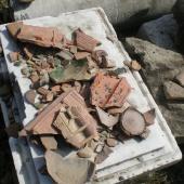Диорама.Обломки древней посуды